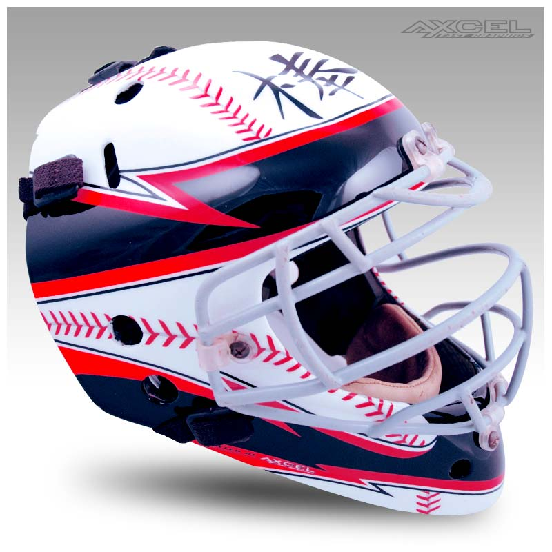 Baseball Catchers Helmet Axcel Fast Graphics Custom Helmet
