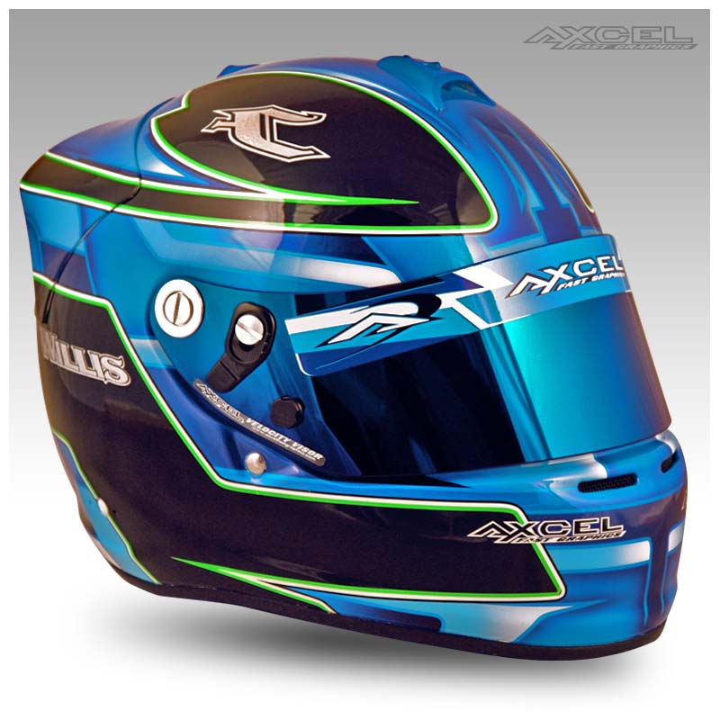 Collin Willis Axcel Fast Graphics Custom Helmet